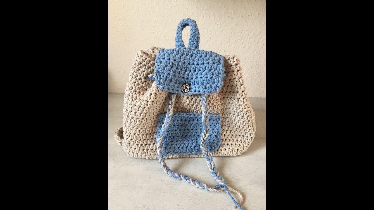 tuto sac a dos au crochet sp cial gaucher youtube. Black Bedroom Furniture Sets. Home Design Ideas