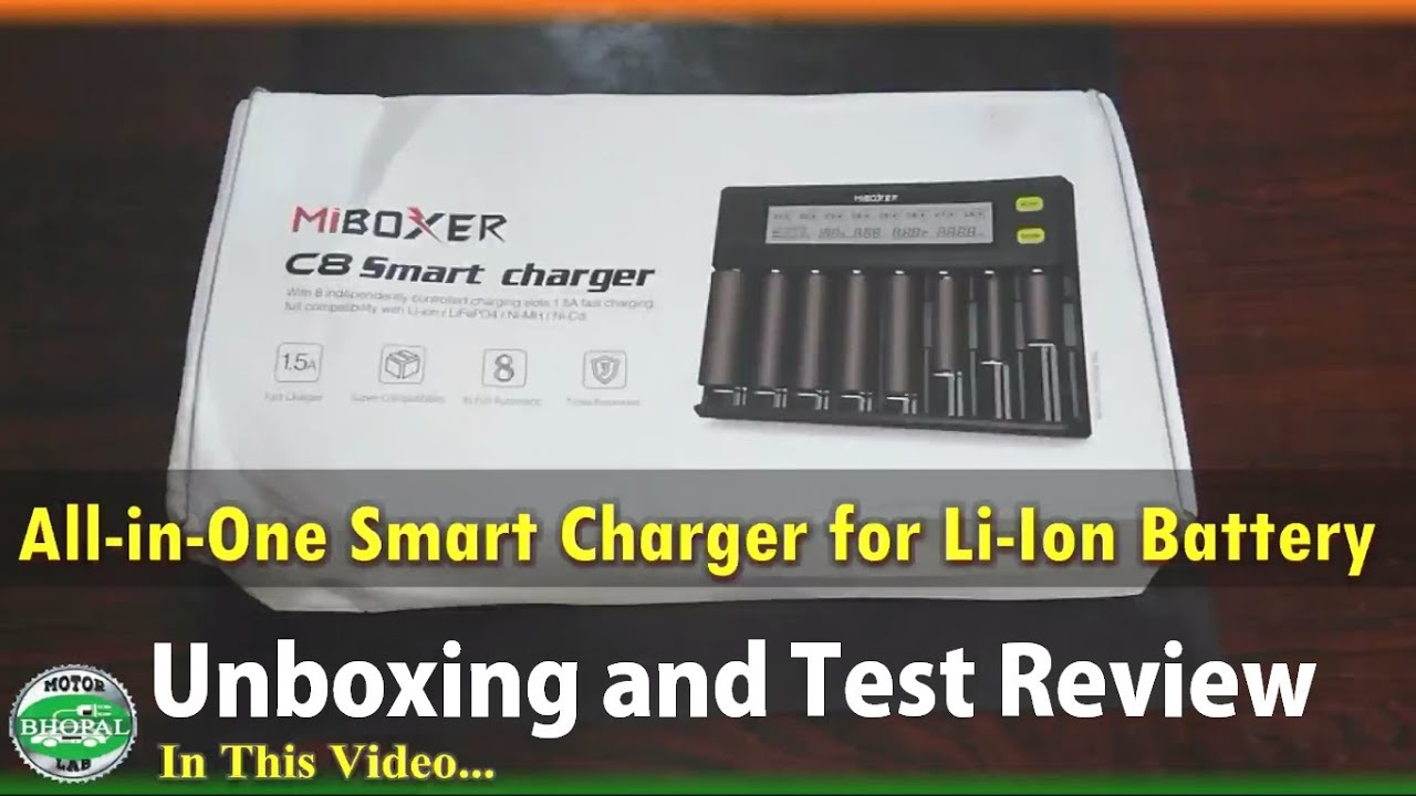 All in One II Smart Charger II Li-Ion Battery II 1850 battery II Unboxing and Test Review