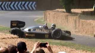 Crash Lotus F1 98t Goodwood FOS