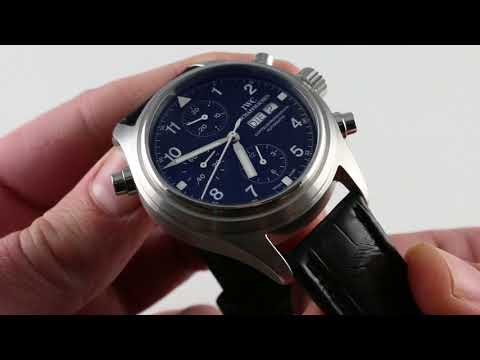Pre-Owned IWC Spitfire Doppelchronograph IW3713 Luxury Watch Review