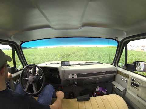 Pulling Truck flies into bean field(in cab)