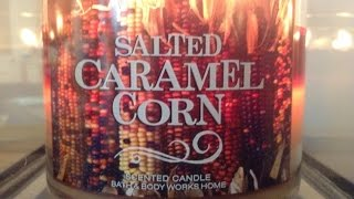 Salted Caramel Corn- Bath & Body Works Candle Review