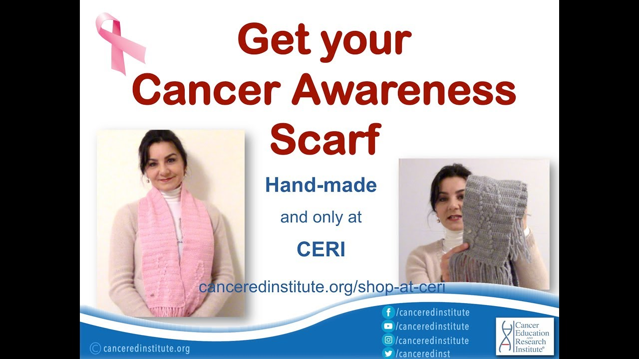 Get your Cancer Awareness Scarf - only at CERI! | Cancer Education and Research Institute (CERI)