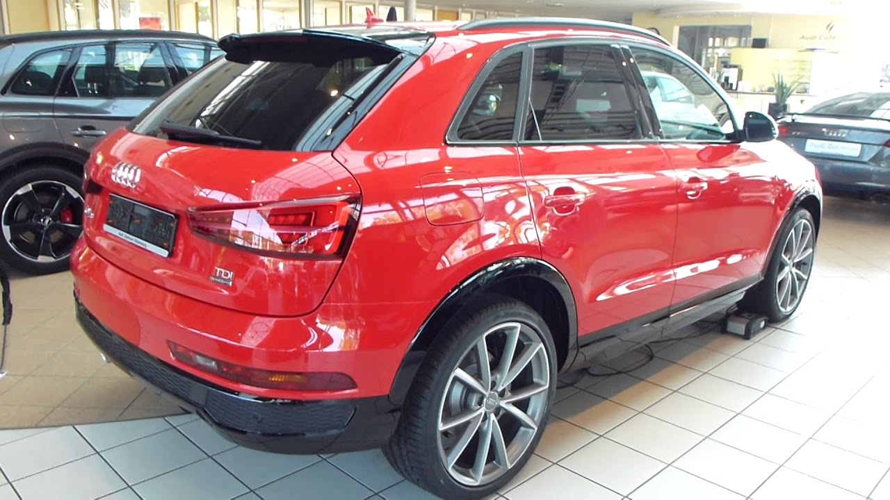 2018 audi q3 quattro 39 39 s line 39 39 exterior interior 2 0 tdi 184 hp 219 km h 136 mph playlist. Black Bedroom Furniture Sets. Home Design Ideas