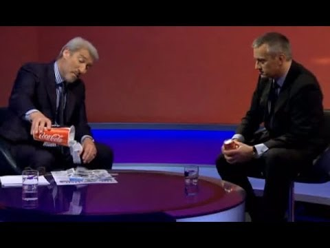 Jeremy Paxmn vs Head of Coke Europe over dozens of teaspoons of sugar in a cup of Coke