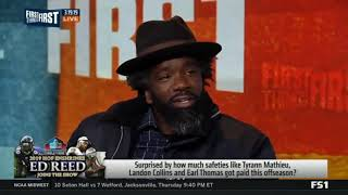 ED Reed on Carter  How will All Pro safety Earl Thomas fit in with the Ravens defense