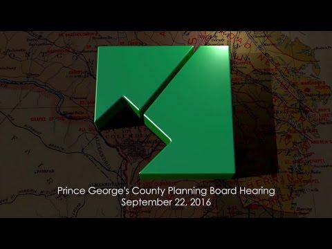 M-NCPPC Planning Board Meeting - September 22, 2016