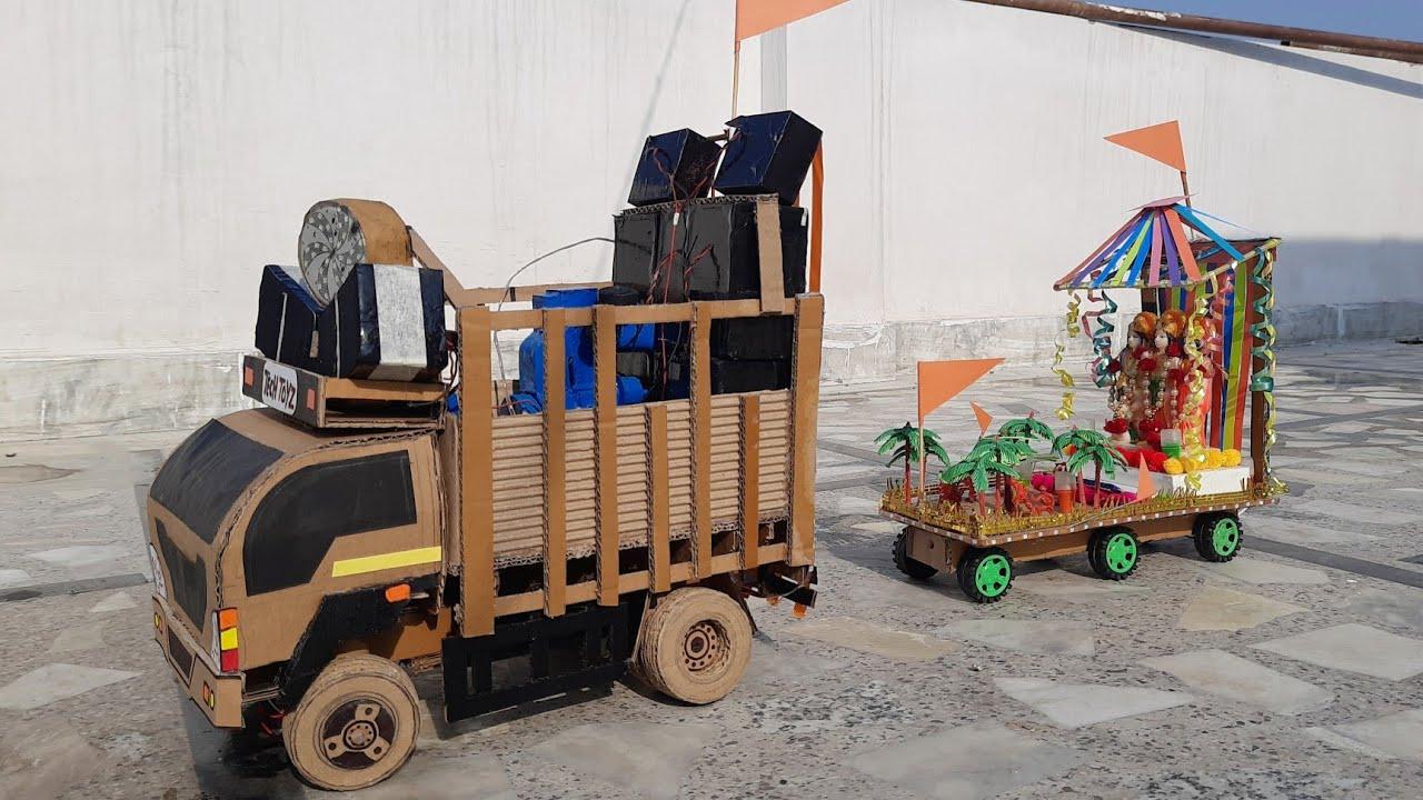 Ram AYE HAI | DJ Truck Loading | How to make DJ Truck from cardboard | Tech Toyz