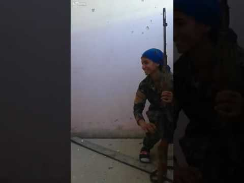 Woman Sniper Almost Shot In The Head By ISIS