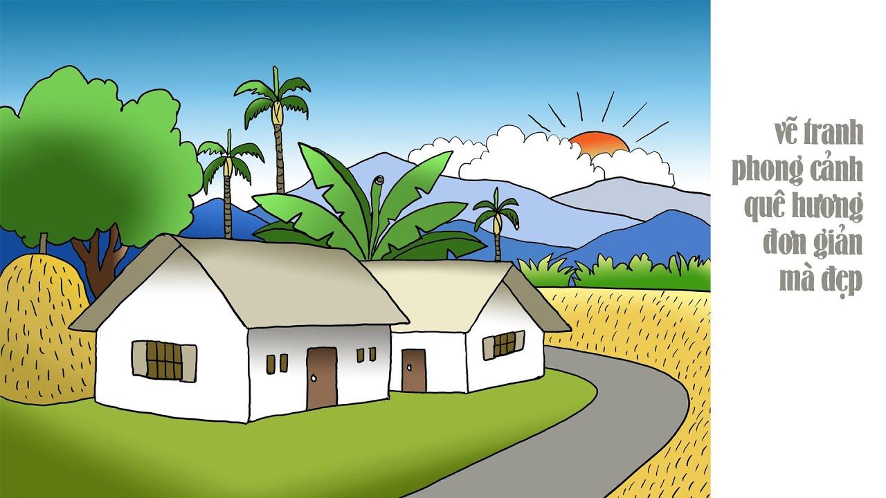 Vẽ tranh đề tài quê hương | Cách vẽ tranh về chủ đề quê hương | Tất tần tật các nội dung về vẽ tranh về đề tài quê hương chuẩn nhất