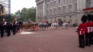 The Queen arrives back at Buckingham Palace