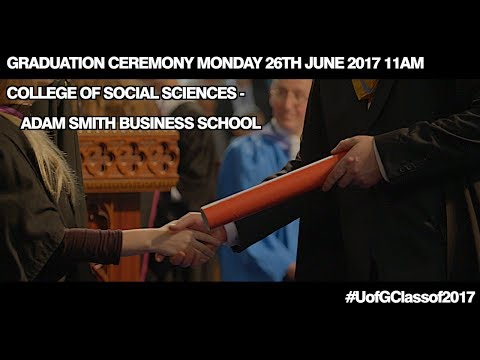 College of Social Sciences Graduation Procession Monday 26th June 2017 11am