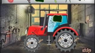 Мультик игра Автомойка: Мыть и ремонтировать трактор (Repair The Tractor)