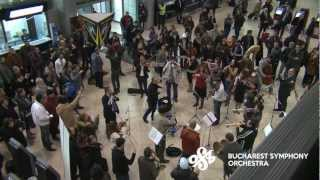 [Official] Flash Mob at Bucharest International Henri Coanda Airport by Bucharest Symphony ...