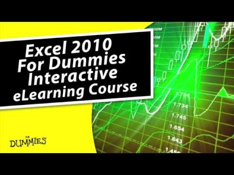 Excel 2010 For Dummies eLearning Course