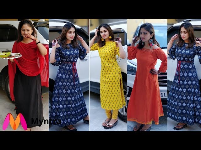 Myntra Kurtis Shopping Try-On Haul
