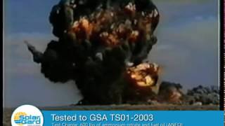 Bomb Blast Test with Armorcoat Safety Film
