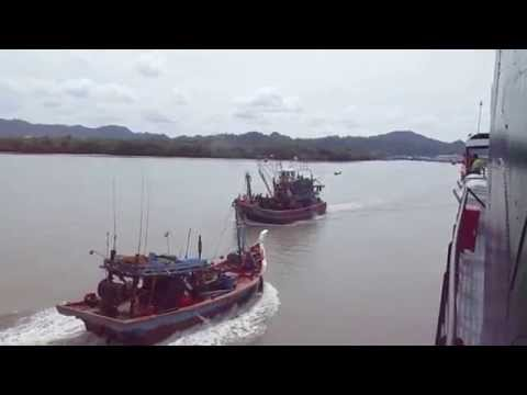 Fishing boats in the Andaman Sea