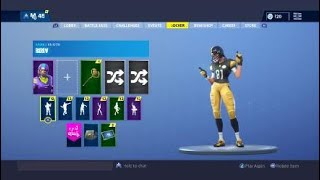 Fortnite 60 BACK BLINGS ON Pittsburgh Steelers Skin