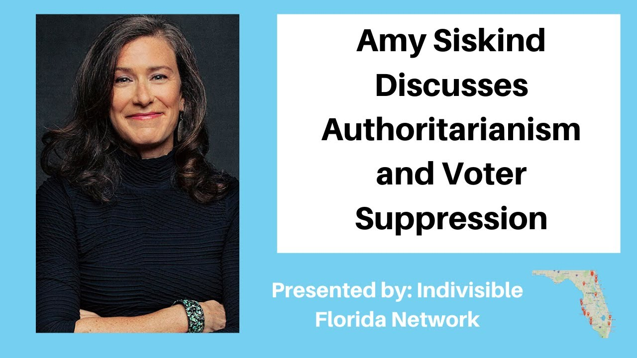 Amy Siskind Discusses Authoritarianism and Voter Suppression