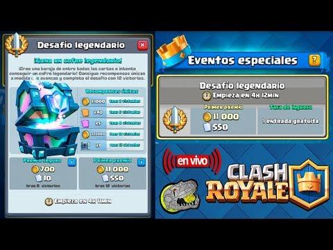 Desafió Legendario - Clash Royale - Multi Torneos, Cofres y Mas - En Vivo y En Español