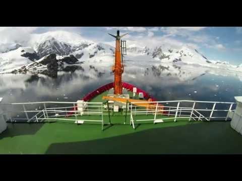 A bordo do Navio Polar da MArinha do Brasil.