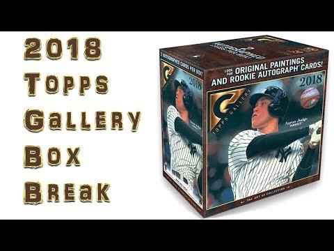 2018 Topps Gallery Baseball Hobby Box Break Youtube
