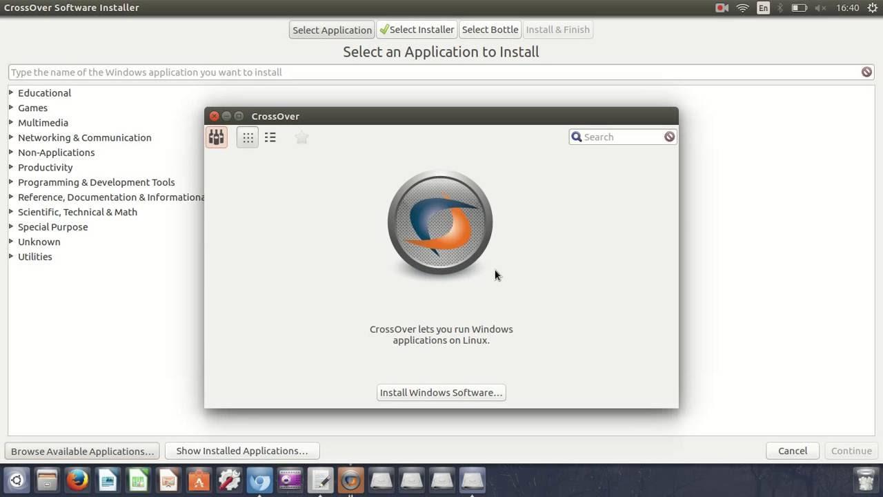 How To Install Crossover on Ubuntu Alternative WINE!!