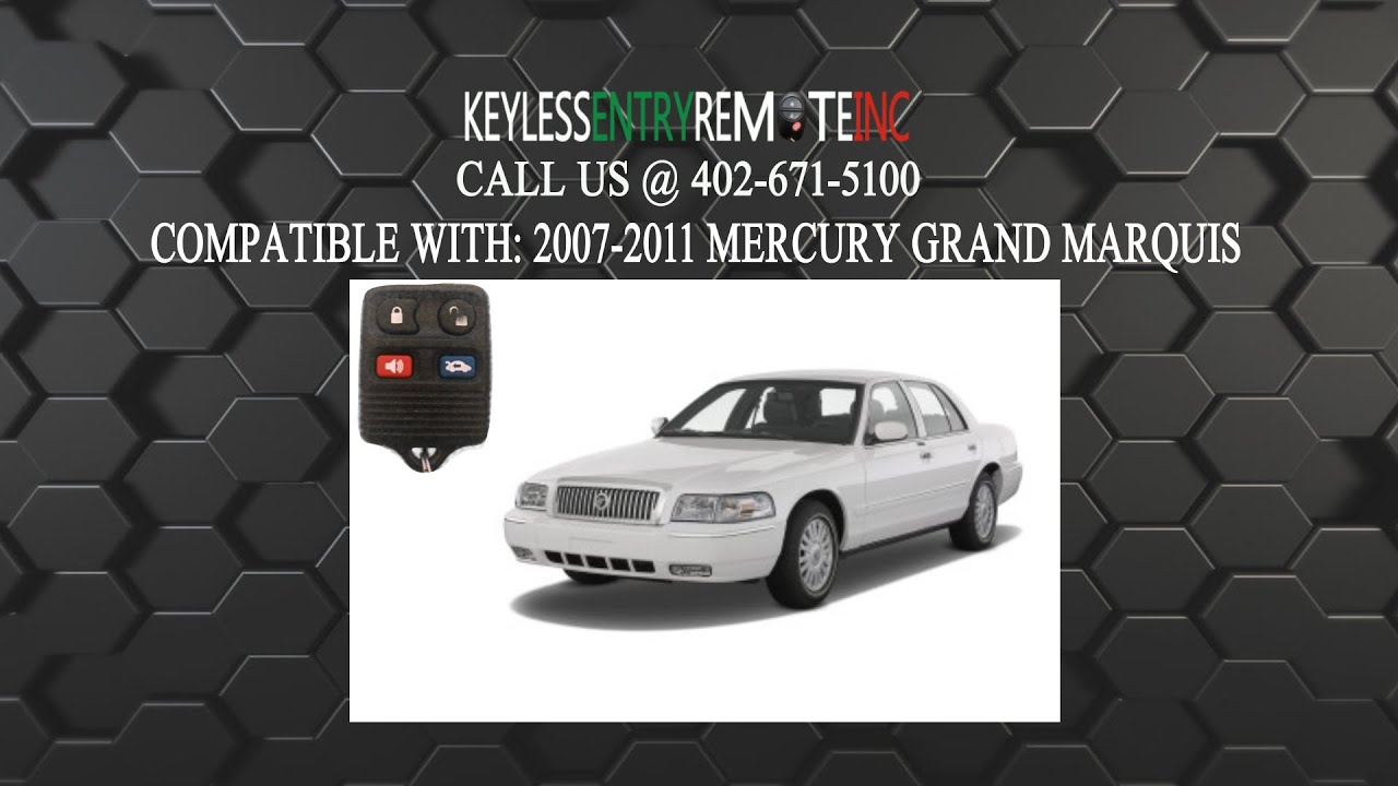 how to replace mercury grand marquis key fob battery 2007 2008