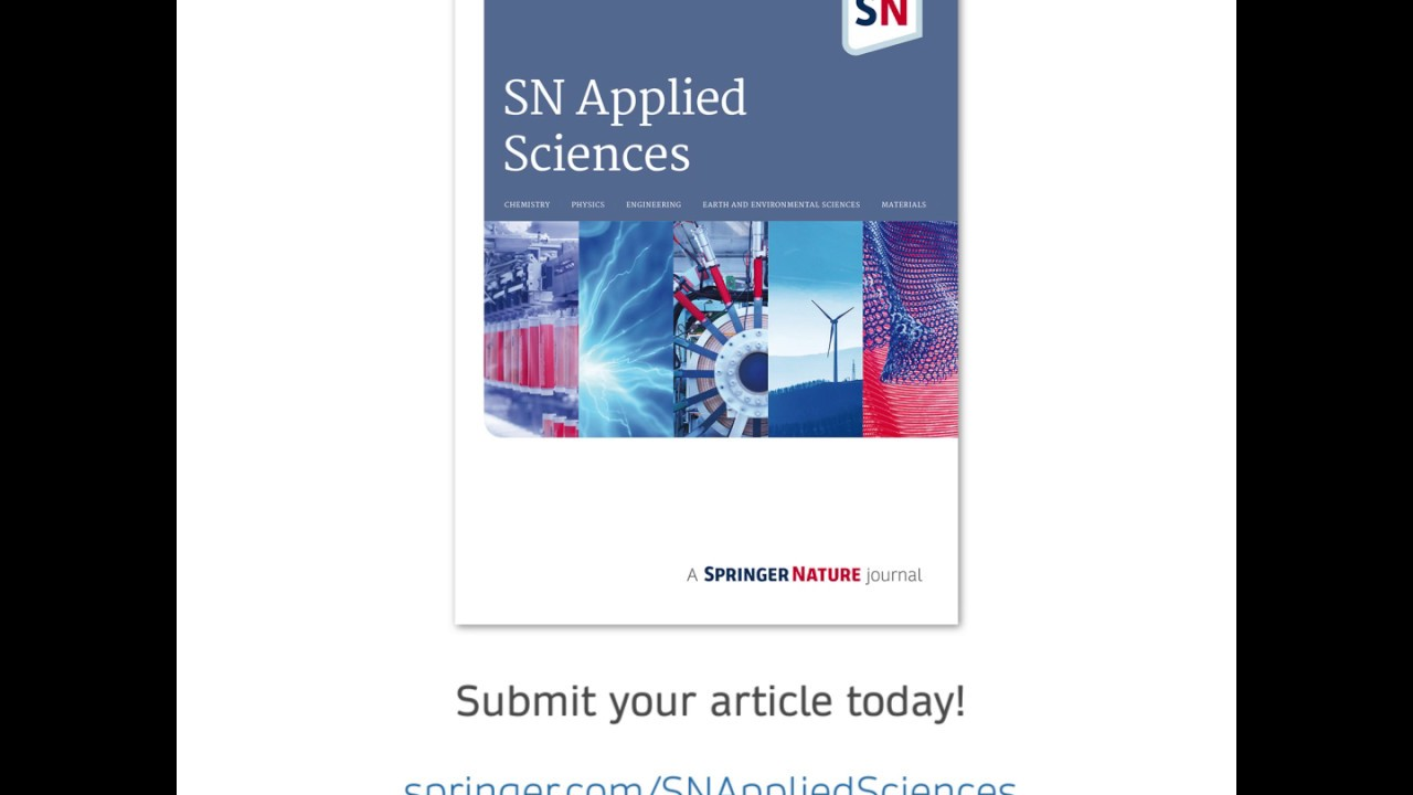 Nastaran Ranjbar On SN Applied Sciences Springer Nature