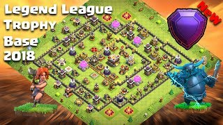 2018 NEW Th11 Legend League Trophy Base | Th11 Trophy Base | Clash Of Clans Legend League Replay