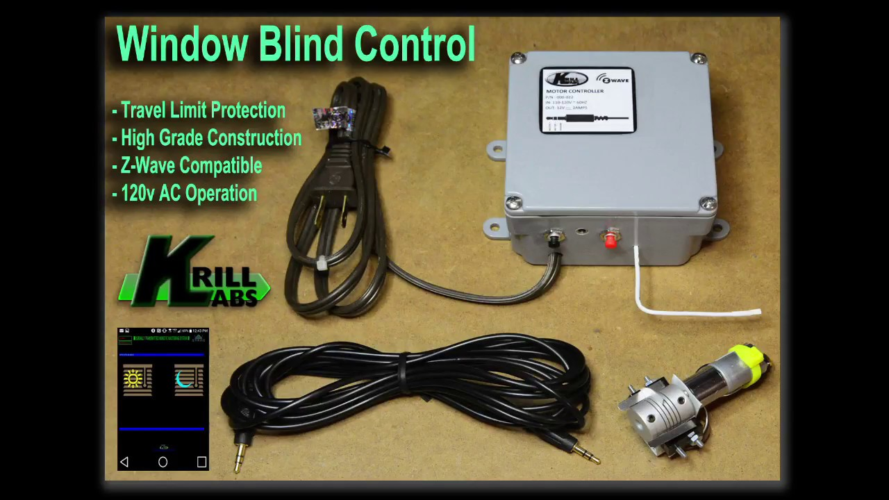 Controlling Your Window Blinds With Z Wave Krill Labs