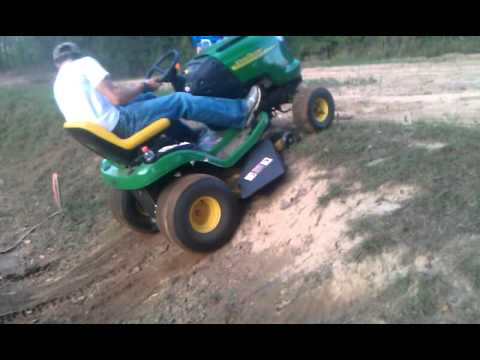 Hill Climb On Lawn Mower Youtube