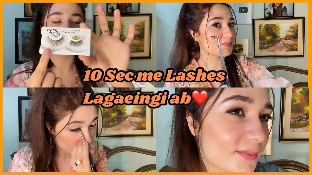 Apply Eye Lashes Easily/ For Beginners - Cut More Than Half !!!