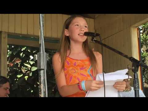 Rory Ramsdell performs 'The Amazing Coral Reef' at Reef Rap 2015 Claude O Markoe Elementary School