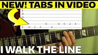 I Walk the Line by Johnny Cash Guitar Lesson WITH TABS!