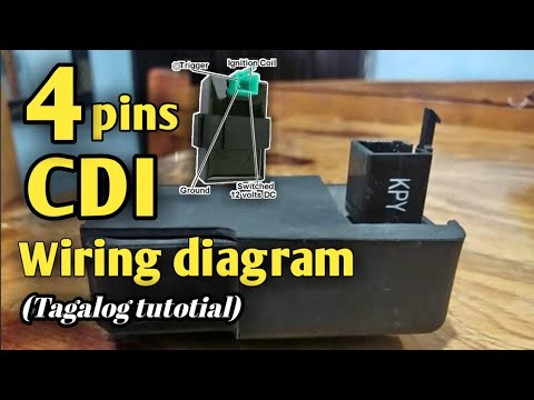 4 pins cdi connection and wiring diagram tagalog tutorial part 1