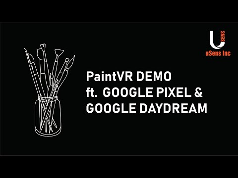 uSens PaintVR Demo (using a Google Pixel and Google Daydream)