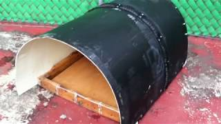 Casa para perro con material 100% reciclado