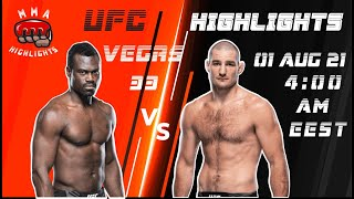 UFC Vegas 33 Uriah Hall Vs Sean Strickland