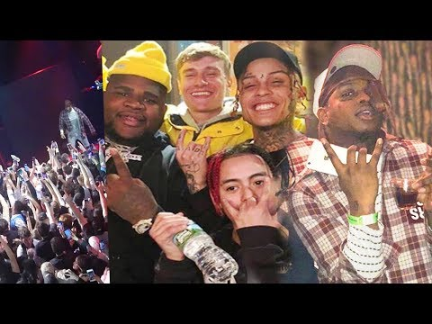 Lil Skies SURPRISES Crowd with Ski Mask The Slump God! (INSANE LIVE FOOTAGE)
