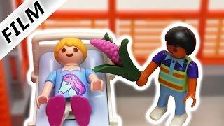 Playmobil Film Deutsch - DER ERSTE KUSS? DAVE BESUCHT HANNAH IM KRANKENHAUS! Familie Vogel