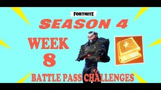 XBOX ONE Fortnite Battle Royale Week 8 Battle Pass Challenges