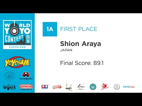 Shion Araya - 1A - 1st Place - 2016 World YoYo Contest