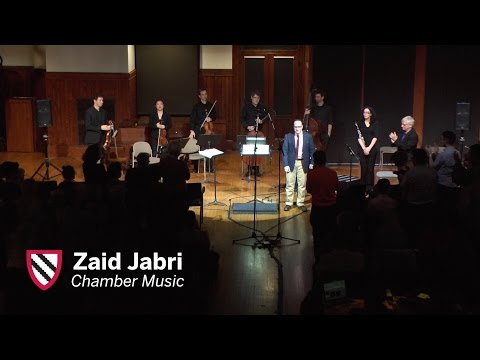 Zaid Jabri    Chamber Music    Radcliffe Institute