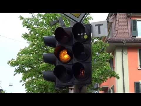 Traffic lights for cars and streetcar