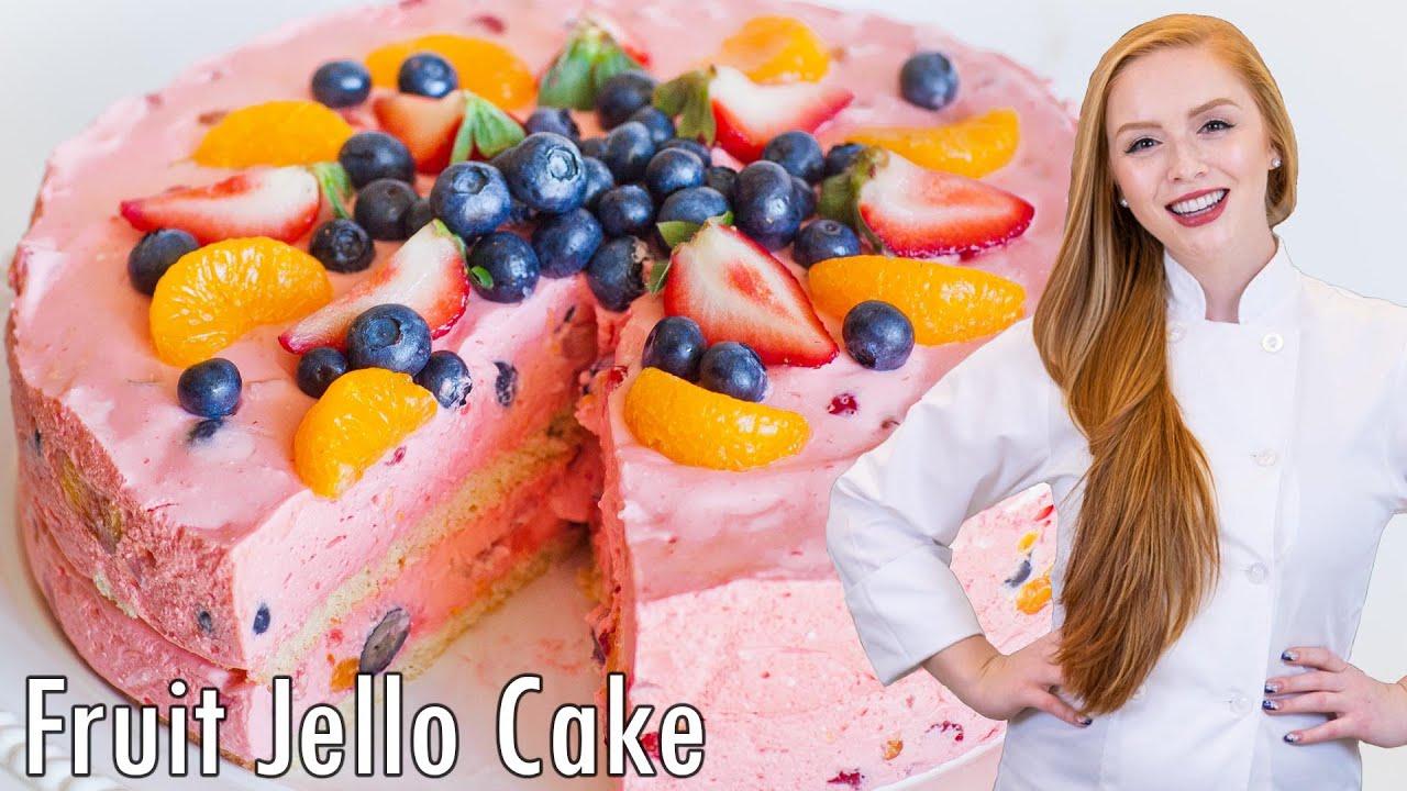 Jello Fruit Mousse Cake Youtube