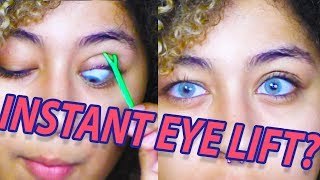 Instant eye lift?! testing eyelid tape for hooded eyes