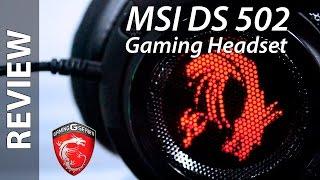 MSI DS502 REVIEW Gaming Headset - Auriculares ( EN ESPAÑOL )
