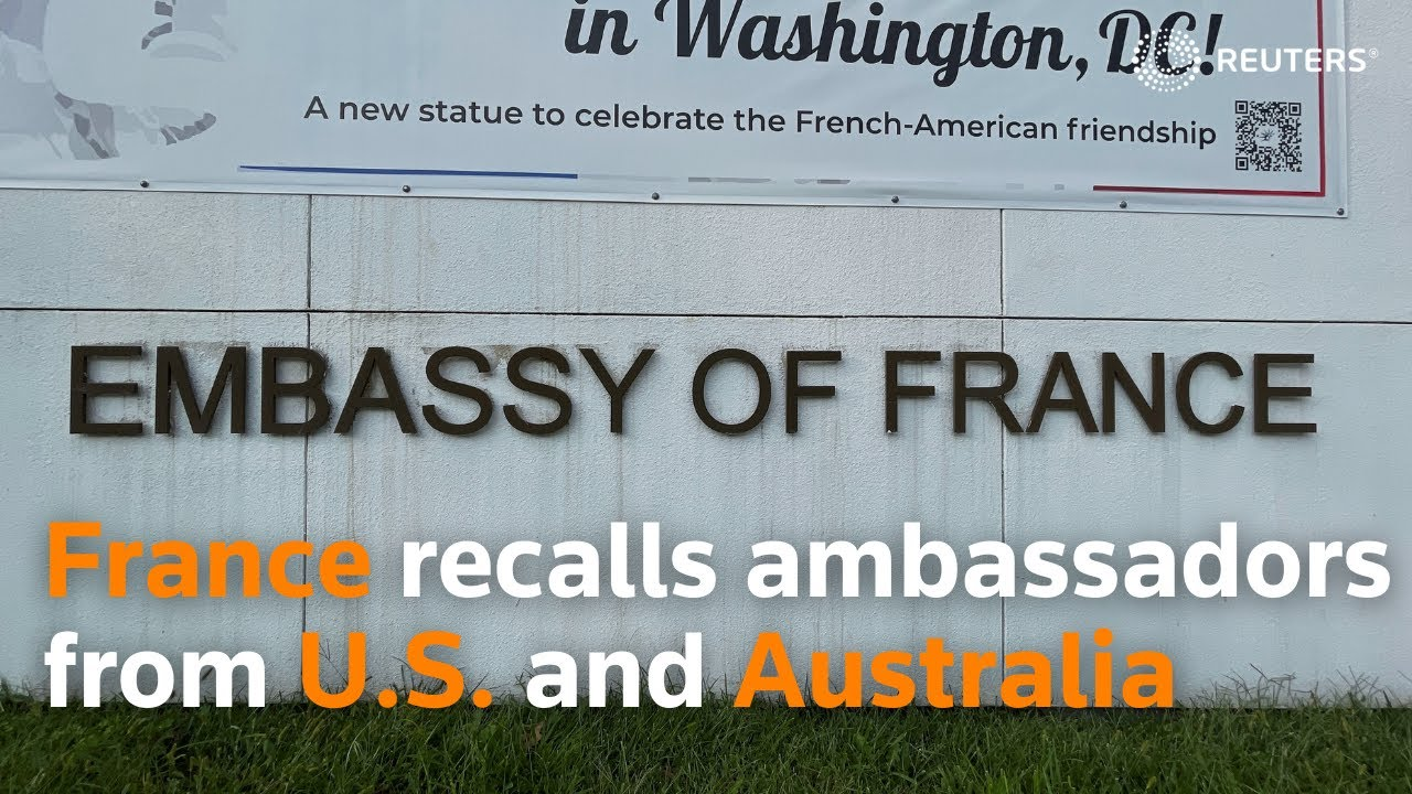 Download France recalls ambassadors from U.S. and Australia